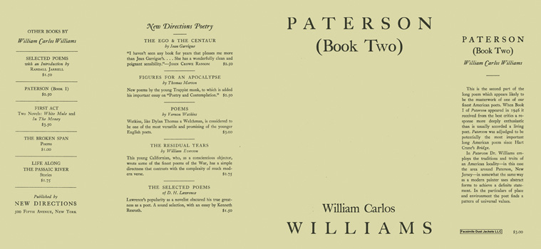 Paterson, Book 2. William Carlos Williams