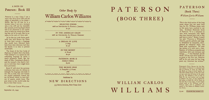 Paterson, Book 3. William Carlos Williams