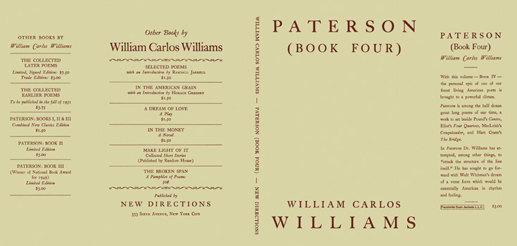 Paterson, Book 4. William Carlos Williams.