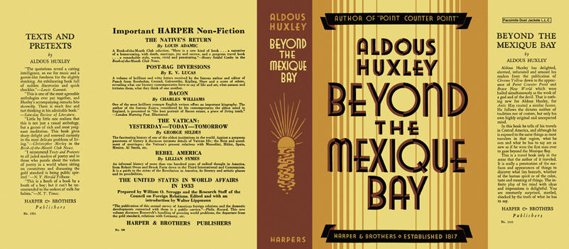Beyond the Mexique Bay. Aldous Huxley