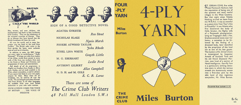Four-Ply Yarn. Miles Burton.
