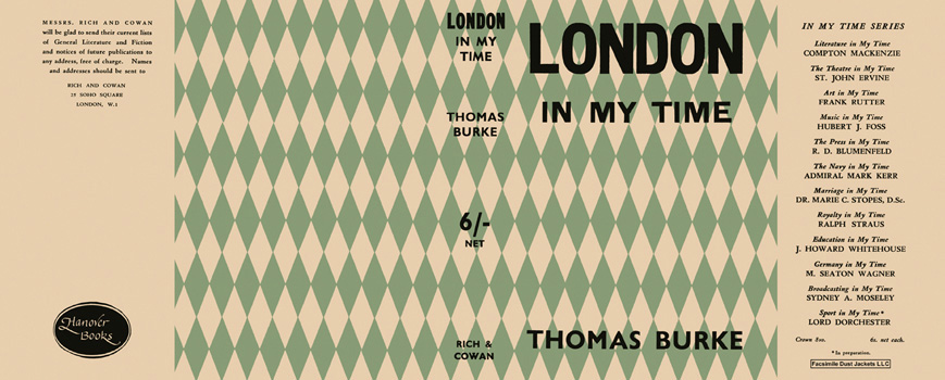 London in My Time. Thomas Burke