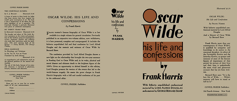 Oscar Wilde, His Life and Confessions. Frank Harris