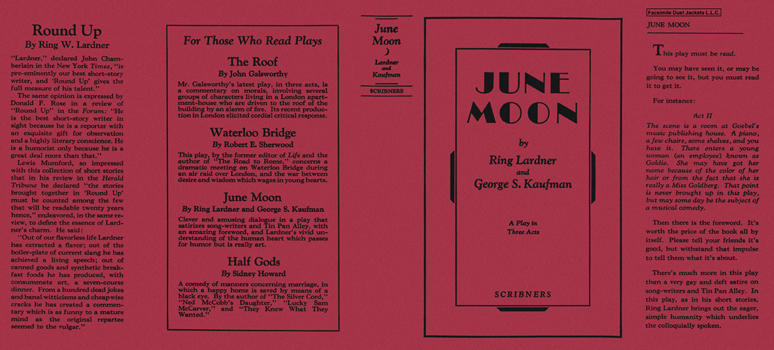 June Moon. Ring W. Lardner, George Kaufman.