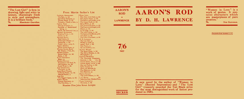 Aaron's Rod. D. H. Lawrence.