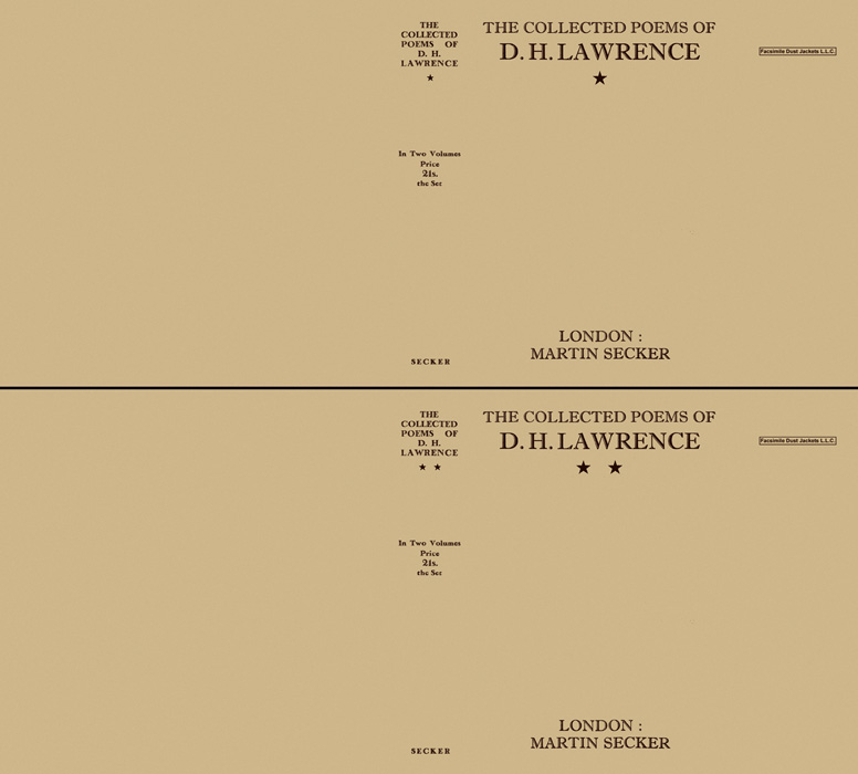 Collected Poems of D. H. Lawrence, The (volumes one and two). D. H. Lawrence.