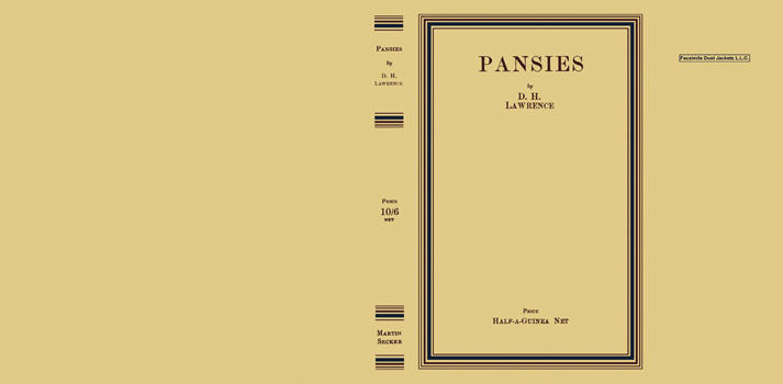 Pansies. D. H. Lawrence.