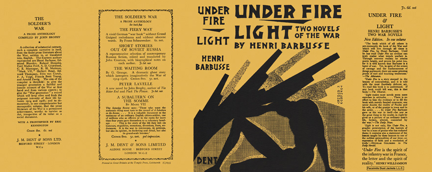 Under Fire and Light, Two Novels of the War. Henri Barbusse.
