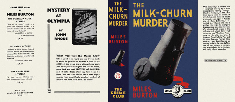 Milk-Churn Murder, The. Miles Burton.