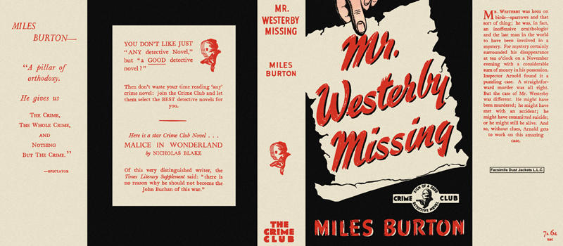 Mr. Westerby Missing. Miles Burton.