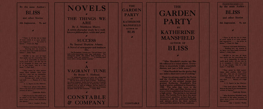 Garden Party, The. Katherine Mansfield