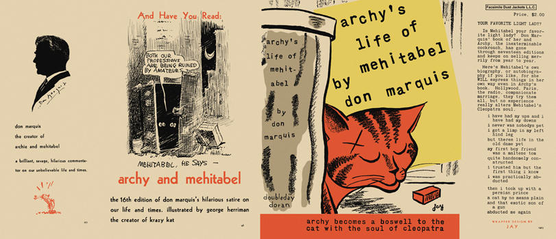 Archy's Life of Mehitabel. Don Marquis