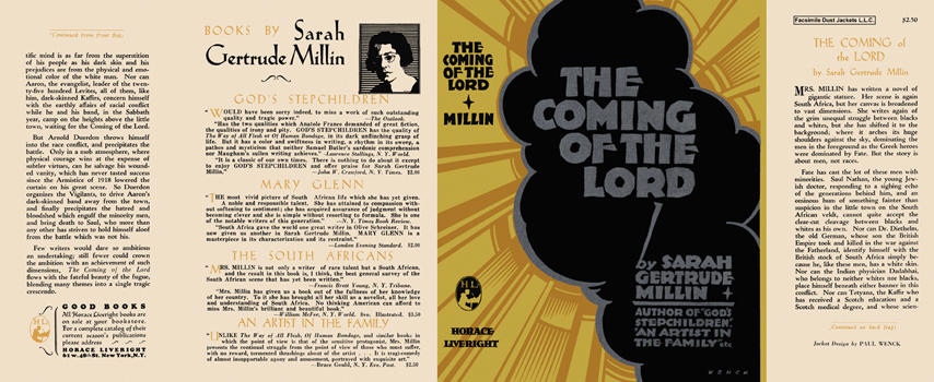 Coming of the Lord, The. Sarah Gertrude Millin.
