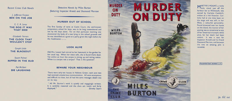 Murder on Duty. Miles Burton.