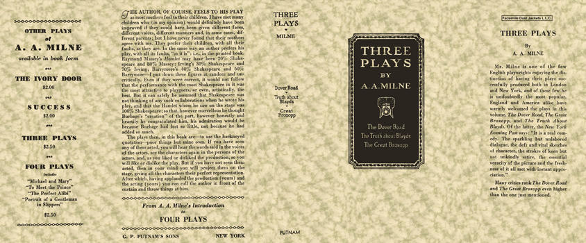 Three Plays. A. A. Milne