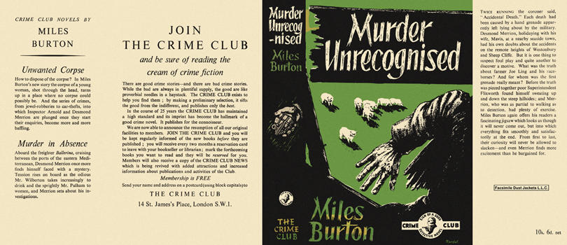 Murder Unrecognised. Miles Burton.