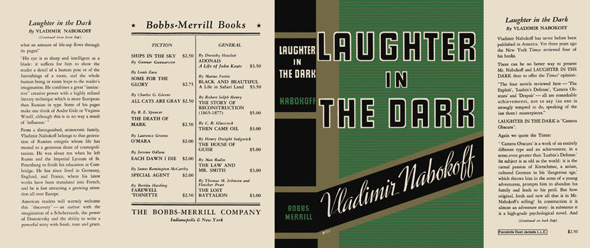 Laughter in the Dark. Vladimir Nabokov, Nabokoff.