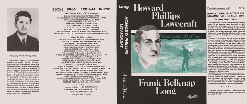 Howard Phillips Lovecraft, Dreamer on the Nightside. Frank Belknap Long