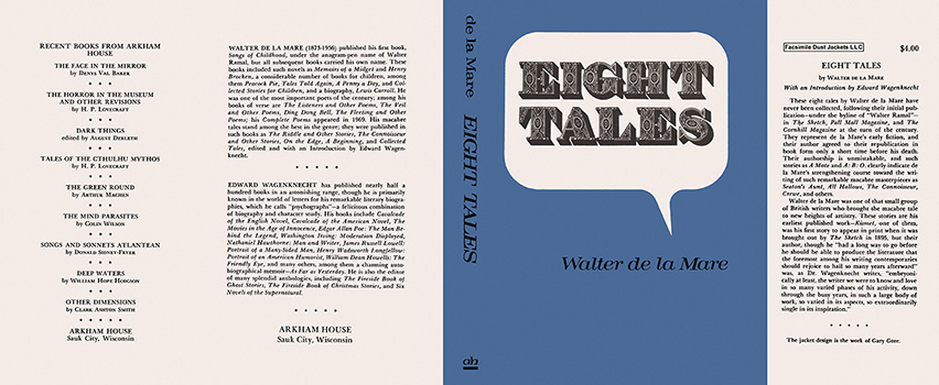 Eight Tales. Walter de la Mare.