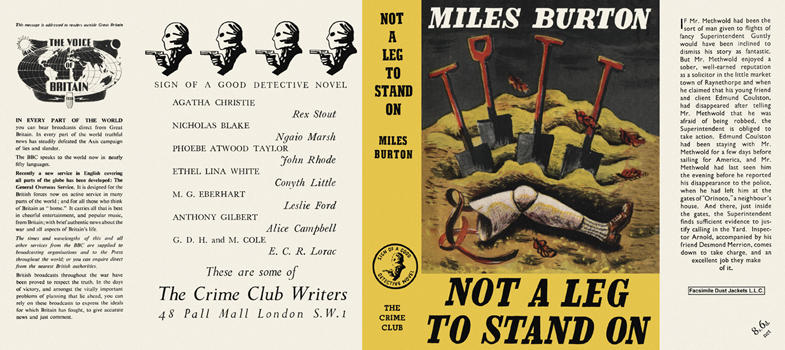 Not a Leg to Stand On. Miles Burton.