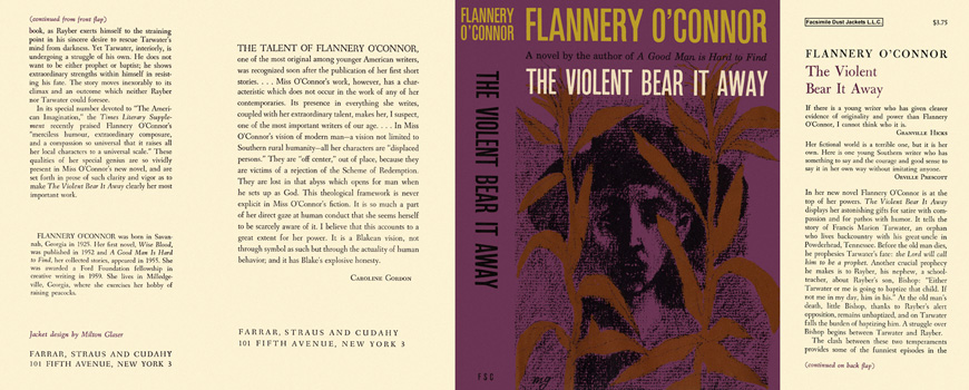 Violent Bear It Away, The. Flannery O'Connor.