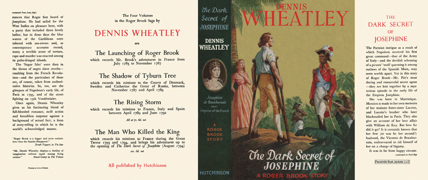 Dark Secret of Josephine, The. Dennis Wheatley.