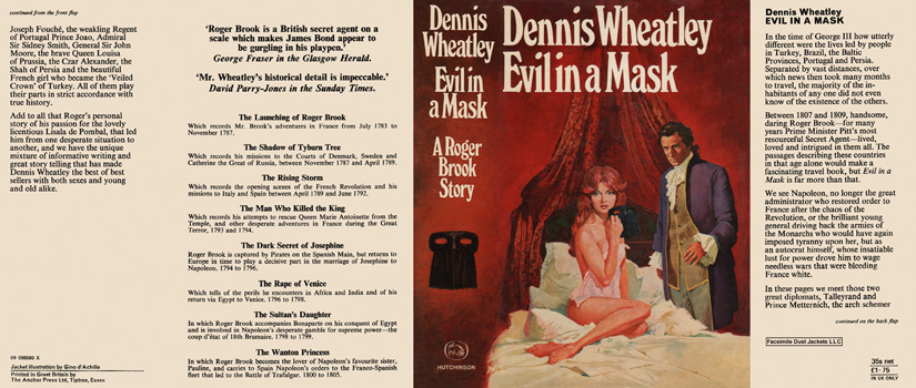 Evil in a Mask. Dennis Wheatley