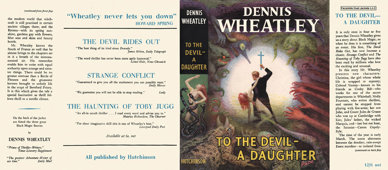 To the Devil - A Daughter. Dennis Wheatley