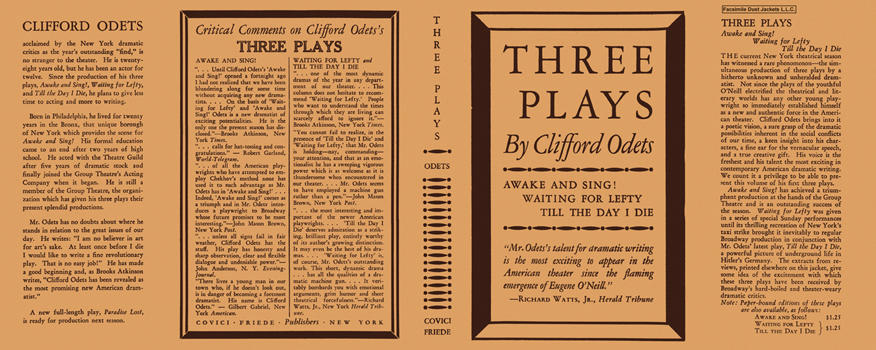 Three Plays. Clifford Odets