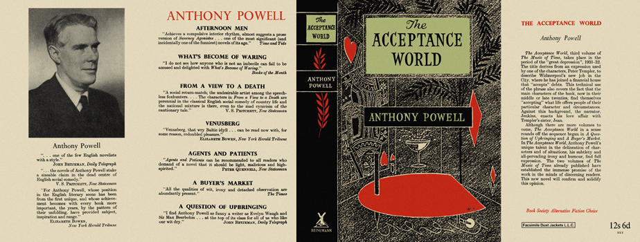 Acceptance World, The. Anthony Powell.