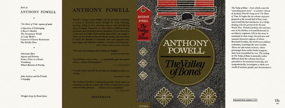 Valley of Bones, The. Anthony Powell.