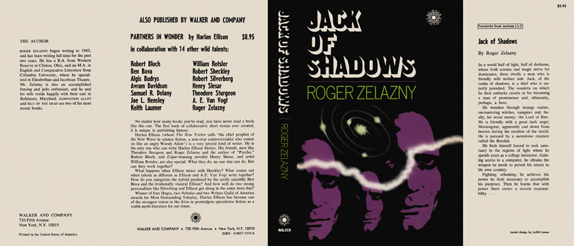 Jack of Shadows. Roger Zelazny.