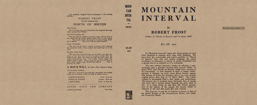 Mountain Interval. Robert Frost