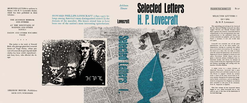Selected Letters 1, 1911-1924. H. P. Lovecraft.
