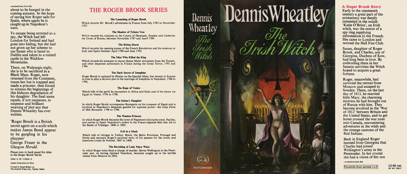 Irish Witch, The. Dennis Wheatley.