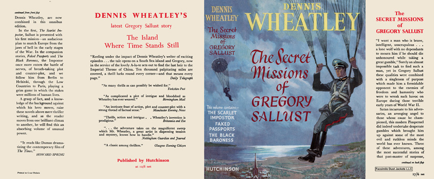 Secret Missions of Gregory Sallust, The, Omnibus. Dennis Wheatley.