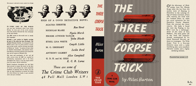 Three Corpse Trick, The. Miles Burton