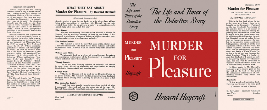 Murder for Pleasure. Howard Haycraft.