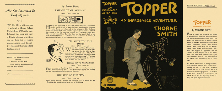 Topper, An Improbable Adventure. Thorne Smith.