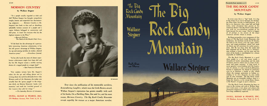 Big Rock Candy Mountain, The. Wallace Stegner.