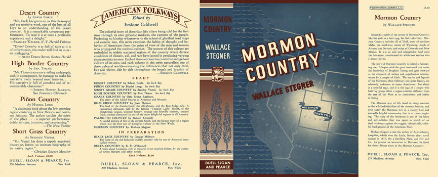 Mormon Country. Wallace Stegner