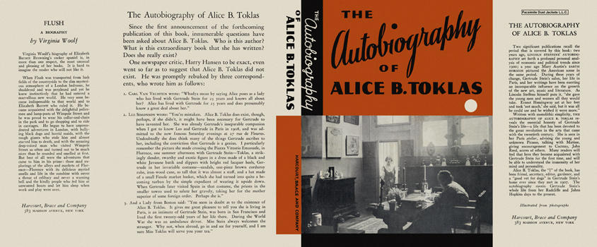 Autobiography of Alice B. Toklas, The. Gertrude Stein