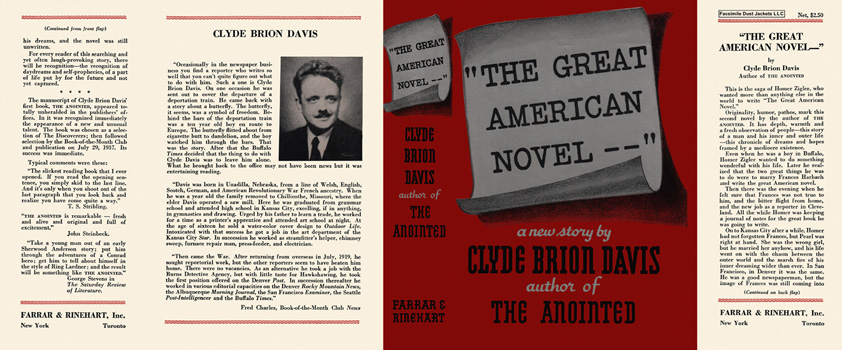 Great American Novel, The. Clyde Brion Davis