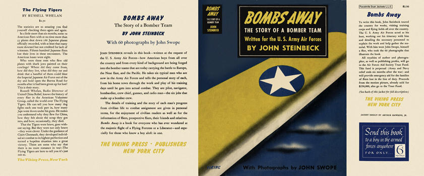 Bombs Away, The Story of a Bomber Team. John Steinbeck
