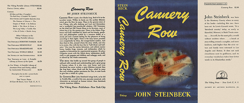 john steinbeck cannery row essay The short novels of john steinbeck: critical essays with a checklist to  the  red pony, of mice and men, the moon is down, cannery row, and the.