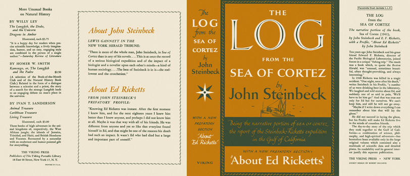 Log from the Sea of Cortez, The. John Steinbeck.