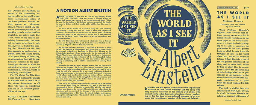 World As I See It, The. Albert Einstein
