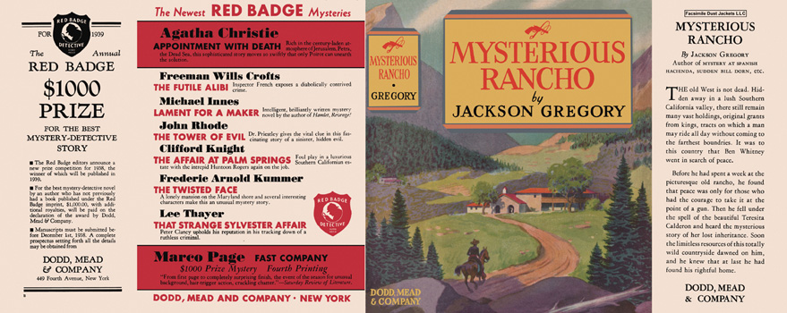 Mysterious Rancho. Jackson Gregory.