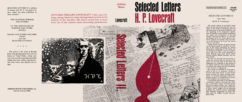 Selected Letters II, 1925-1929. H. P. Lovecraft