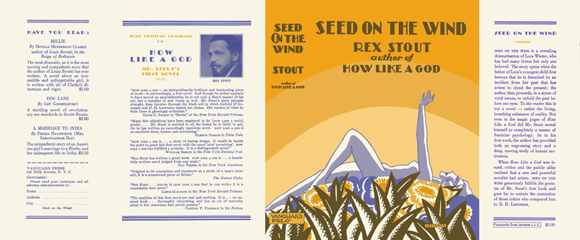 Seed on the Wind. Rex Stout.